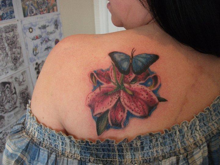 55+ Lily Tattoos On Back Shoulder