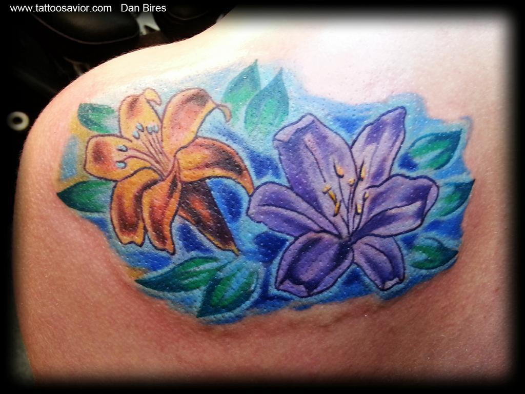 55 Lily Tattoos Back Shoulder