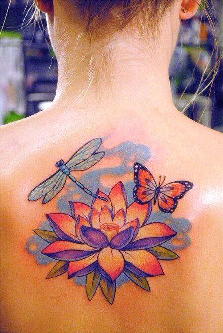 37+ Traditional Lotus Tattoos Ideas - photo#13