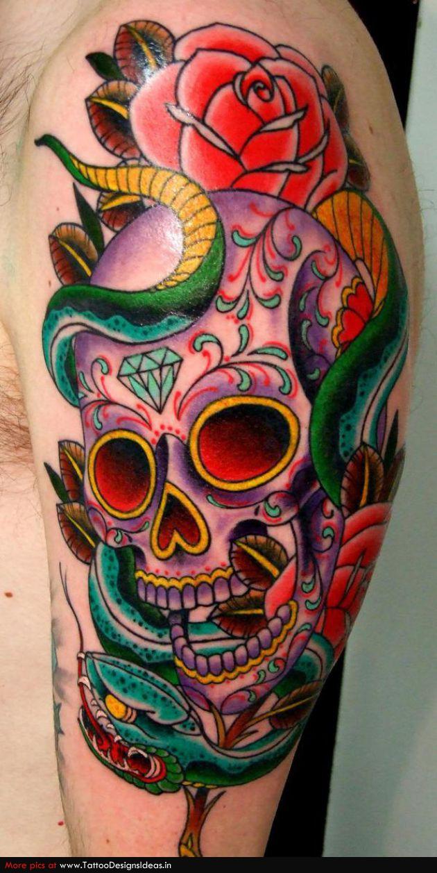 Snake Skull Tattoo: 35+ Amazing Skull And Snake Tattoos