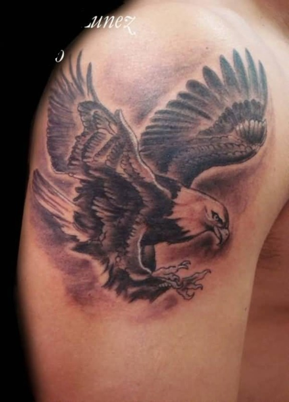 48 awesome flying eagle tattoos for Eagle tattoo arm