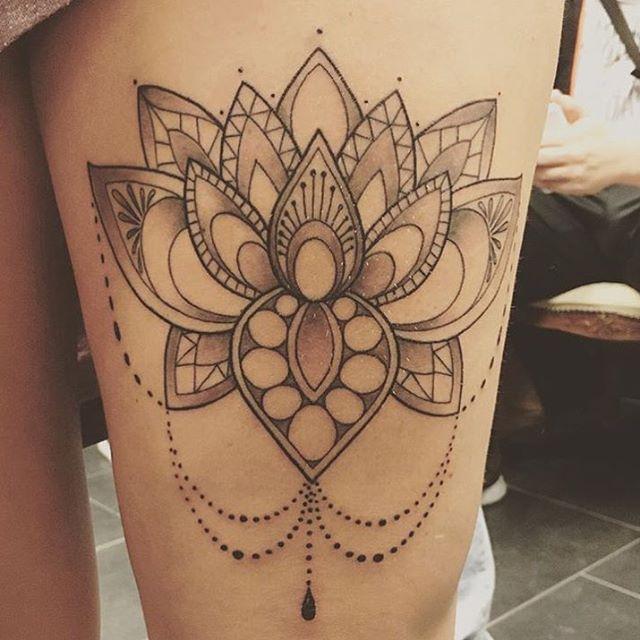 36 mandala lotus tattoos ideas for Mandala hip tattoo