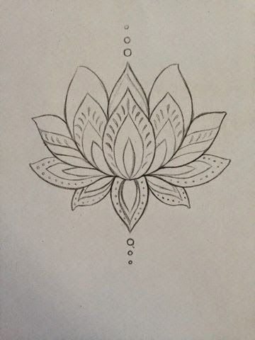 Cool black outline lotus flower tattoo design by mmenjurag mightylinksfo