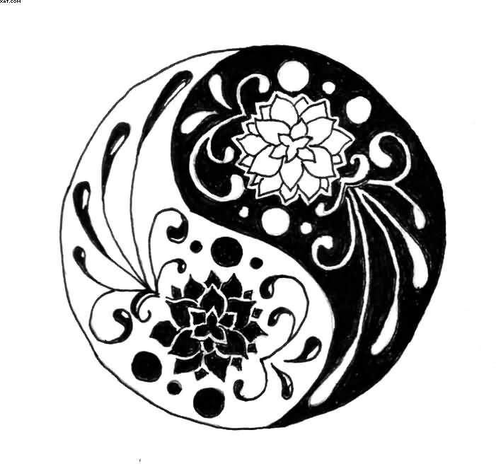 Tattoo Designs Yin Yang Symbol: 33+ Lotus Tattoo Stencils & Designs