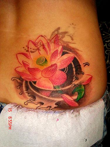 21 best lotus tattoos on hip. Black Bedroom Furniture Sets. Home Design Ideas