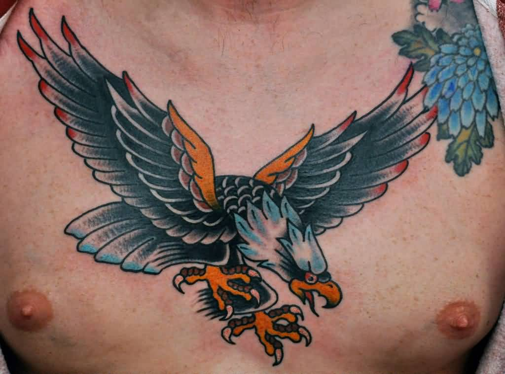 48+ Awesome Flying Eagle Tattoos