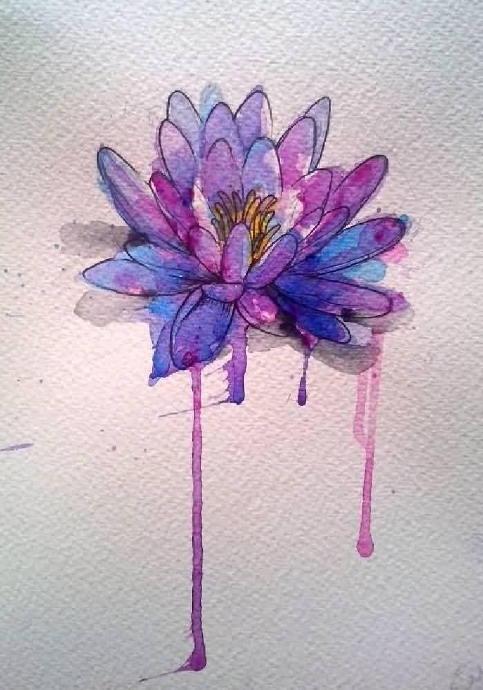 Flower Tattoo Artist Tattooist Flower 타투이스트: Cool Watercolor Lotus Flower Tattoo Design