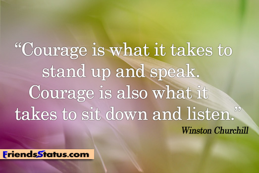 how to have courage to speak up