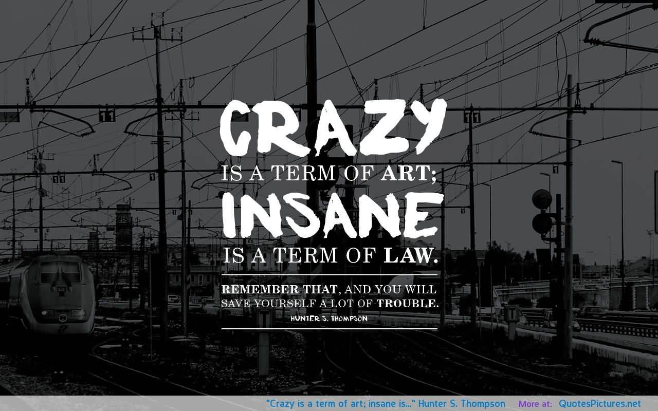 beautiful insanity quotes and sayings crazy is a term of art insane is a term of