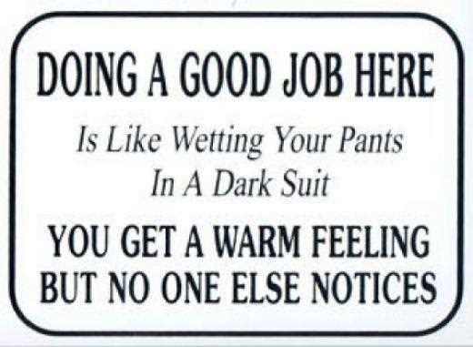 Good Job Quotes Gorgeous Doing A Good Job Here Is Like Wetting Your Pants In A Dark Suit