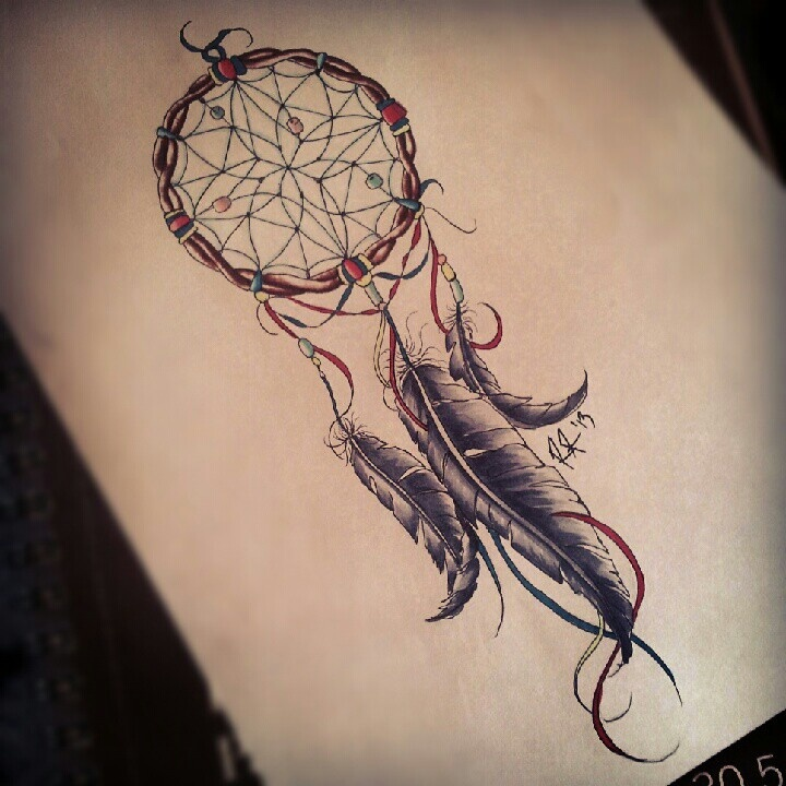 Dreamcatcher Tattoos Designs Ideas And Meaning: 21+ Nice Dreamcatcher Tattoos Designs