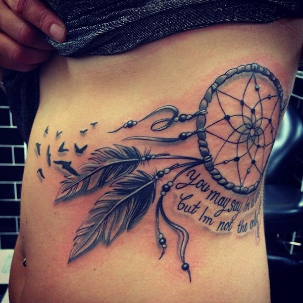 29+ Dreamcatcher Tattoos With Birds
