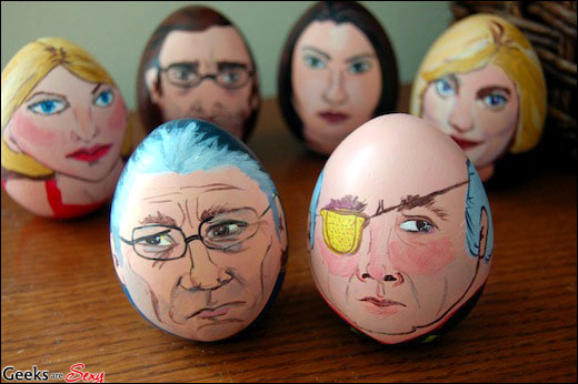 how to make funny egg faces