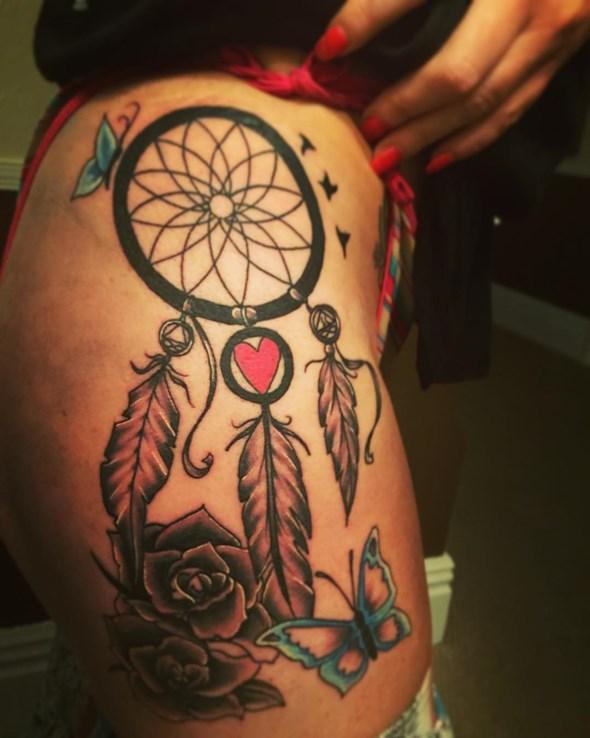 35+ Dreamcatcher Tattoos On Leg
