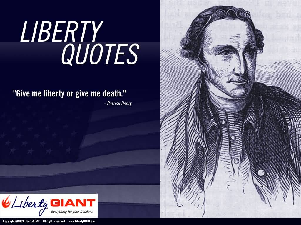 patrick henry give me liberty or On march 23, 1775, patrick henry delivered a speech which supported military  action against the british this stirring speech swayed the vote and was most.