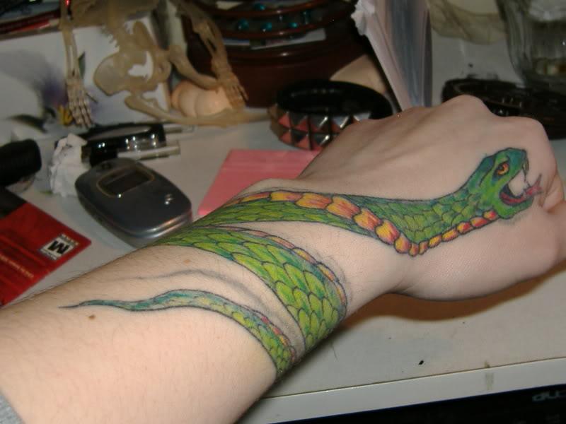 18 snake tattoos on wrists for Snake tattoo girl