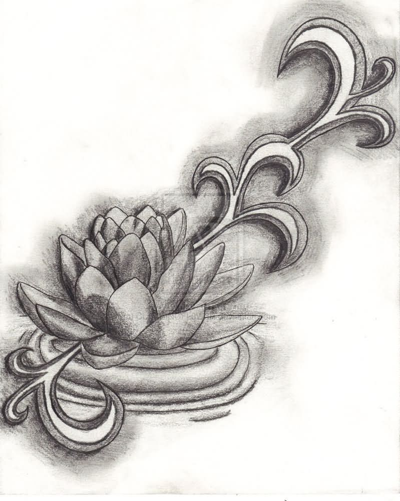 42 black grey lotus tattoos designs grey ink lotus flower tattoo design izmirmasajfo