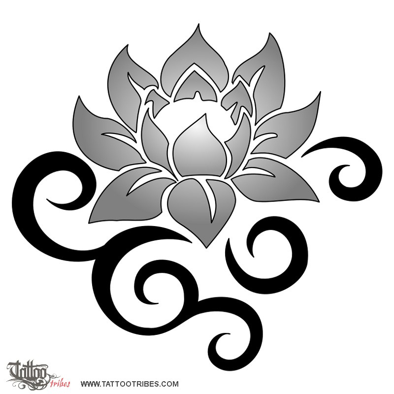28 tribal lotus tattoos collection. Black Bedroom Furniture Sets. Home Design Ideas