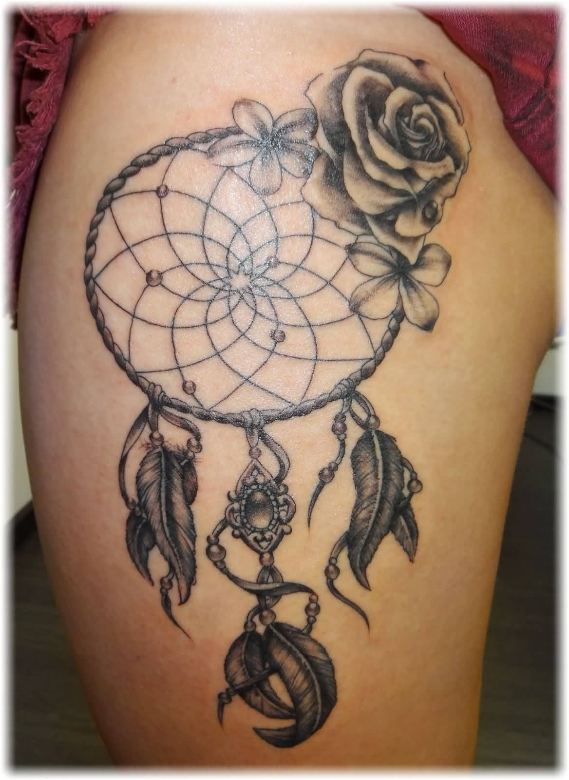 36+ Dreamcatcher With Roses Tattoos Ideas