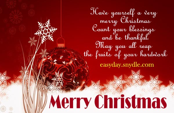 Have Yourself A Very Merry Christmas Count Your Blessings And Be ...
