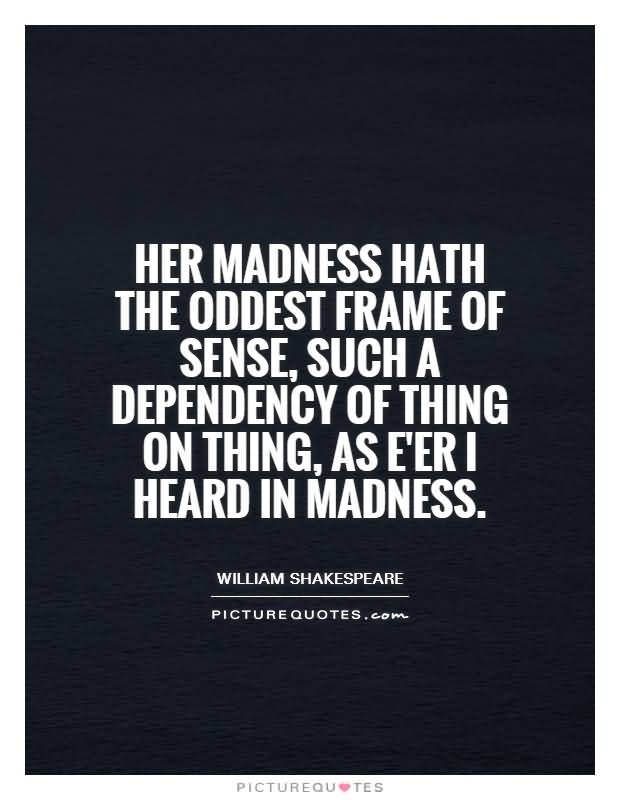 the madness of william shakespeares hamlet Theme of madness in hamlet essaysthe tragedy of hamlet, prince of denmark, is, perhaps, one of william shakespeare's most popular works one of the possible reasons for the intense.