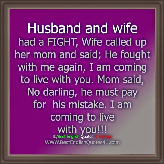 Husband And Wife Had A Fight Wifeed Up Her Mom And Said He
