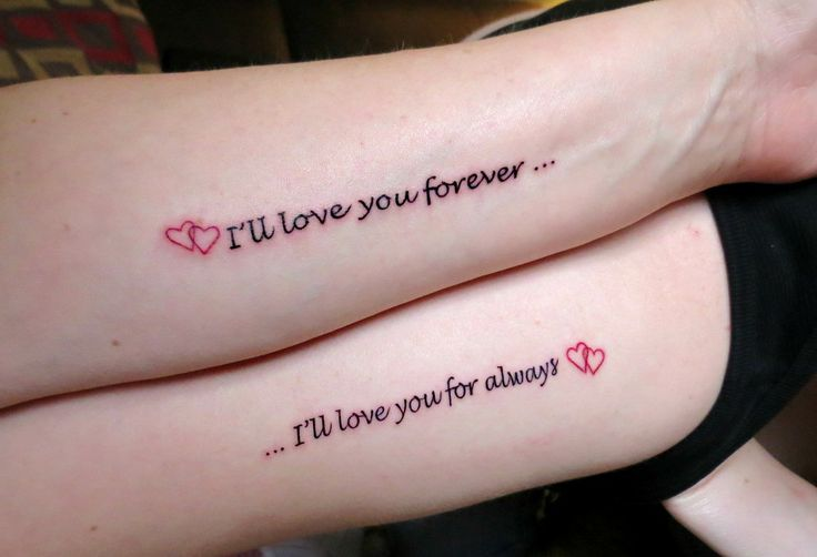 e71a43298 I Love You Forever I Love You For Always Tattoo For Couple