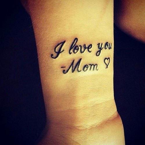 Love Mom Tattoo Forearm: 50+ Beautiful I Love You Tattoos