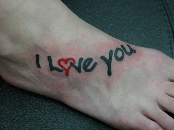 50 Beautiful I Love You Tattoos