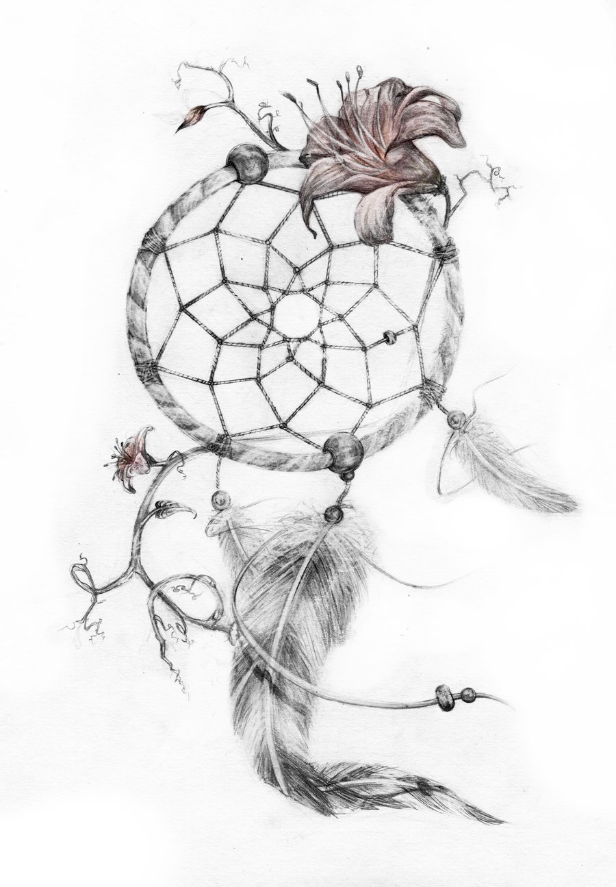Lily flower and dreamcatcher tattoo design pronofoot35fo Choice Image