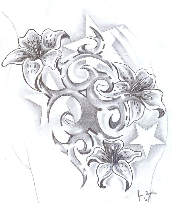 26 lily tattoos designs for Lily rose designer
