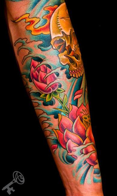 26 Lotus Tattoos On Sleeve