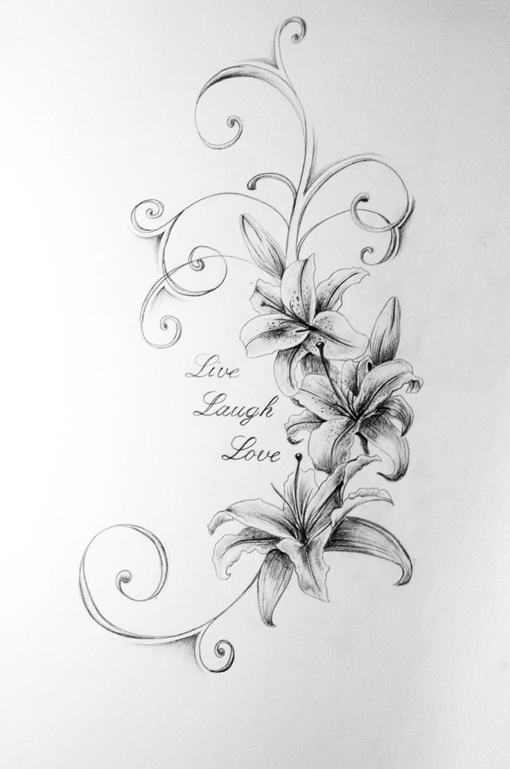 Love laugh love lily flower tattoo design izmirmasajfo