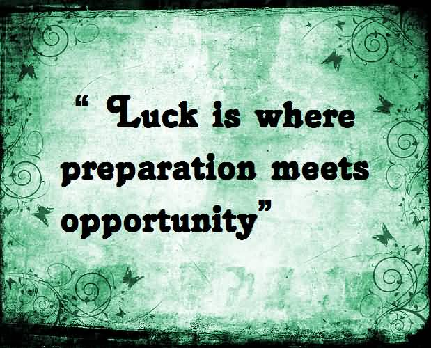 Luck Sayings
