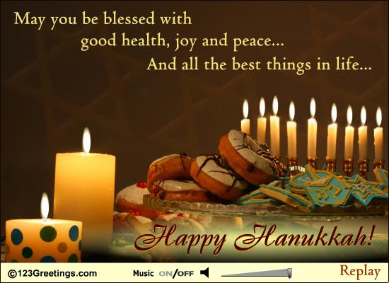 65 beautiful hanukkah greeting pictures may you be blessed with good health joy and peace and all the best things m4hsunfo