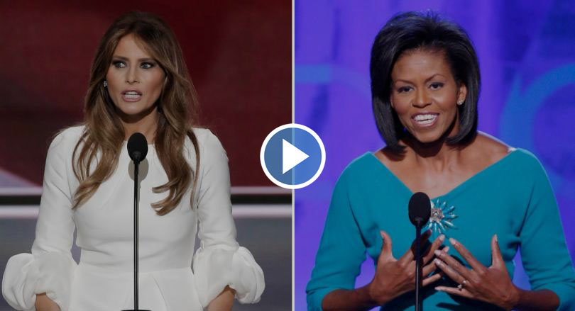 Melania Trump Copying Michelle Obama's Speech