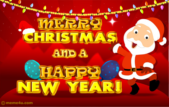 Merry Christmas And A Happy New Year Santa Claus Picture