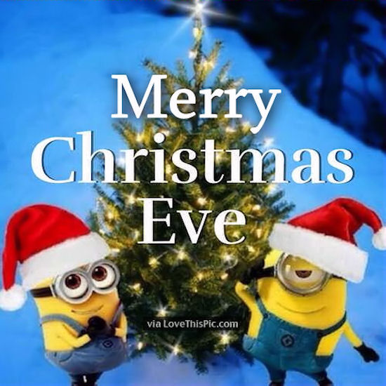 Minions Wishing You Merry Christmas Eve