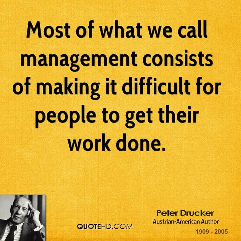 peter drucker on knowledge workers management Of the world is to raise the productivity of knowledge and service workers of management in the knowledge and peter f drucker.