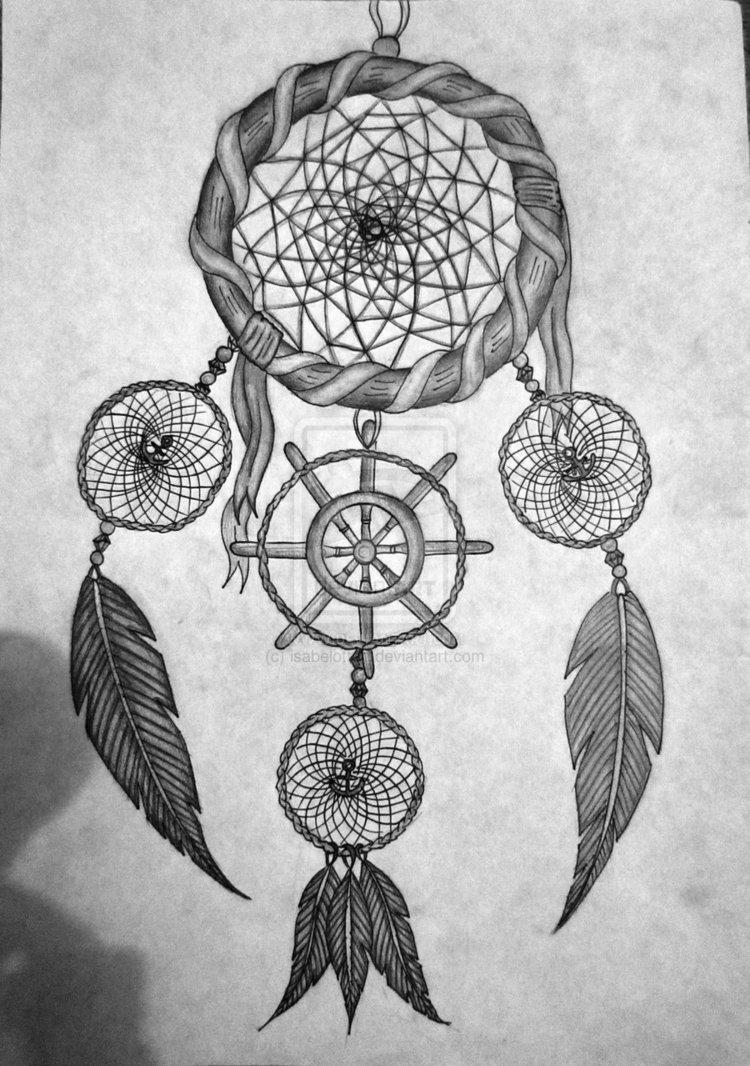 21 nice dreamcatcher tattoos designs. Black Bedroom Furniture Sets. Home Design Ideas