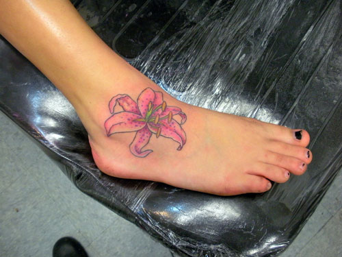 56+ Lily Tattoos On Ankle