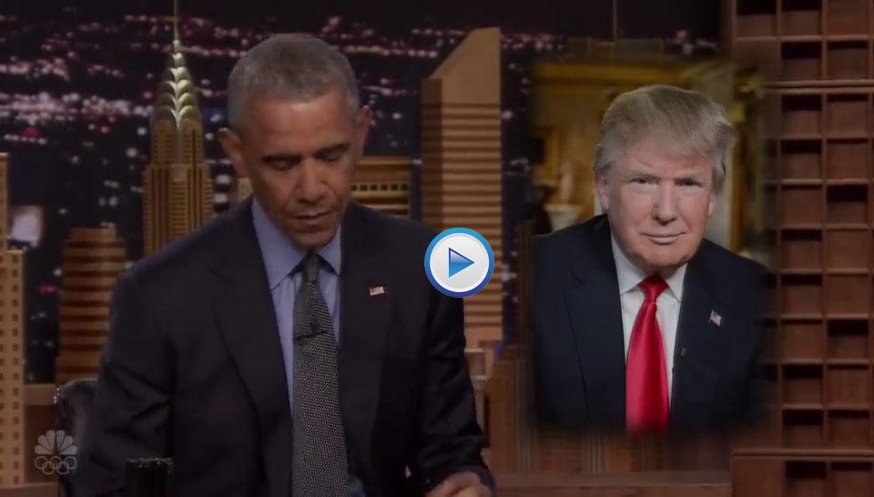 Obama Trolls Trump On Jimmy Fallon