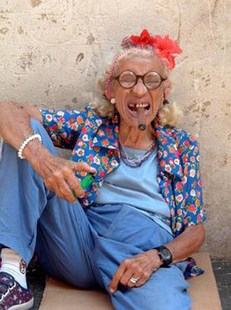 old lady smoking funny picture