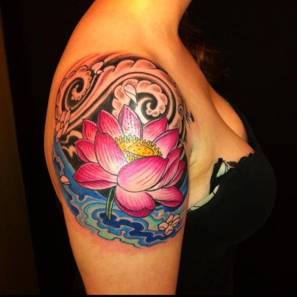 39+ Lotus Tattoos On Shoulder