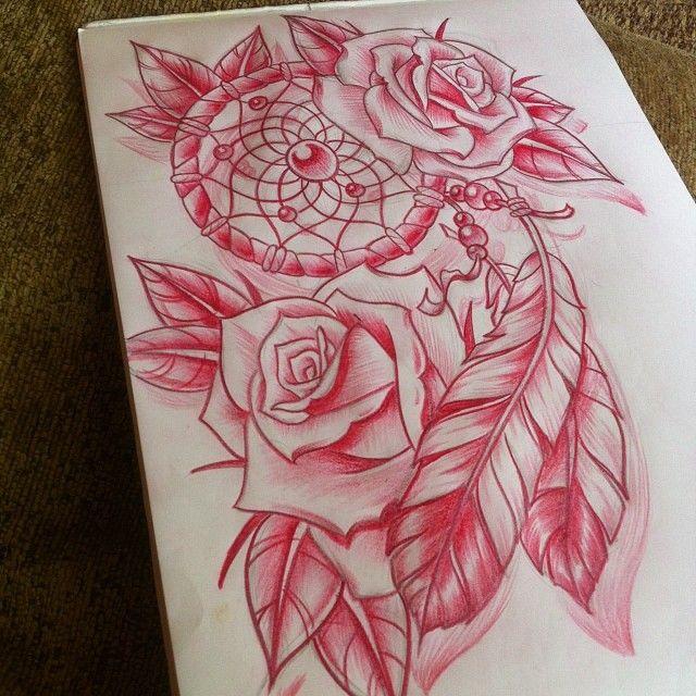 Dream Catcher Tattoo Design Idea: 36+ Dreamcatcher With Roses Tattoos Ideas