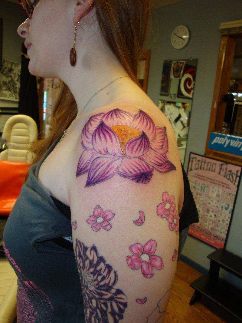 39 lotus tattoos on shoulder for Tattoos on shoulder for girl
