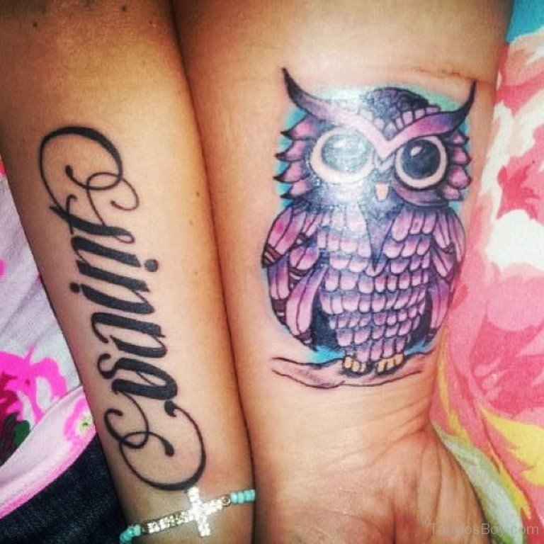 Owl Tattoos On Wrist