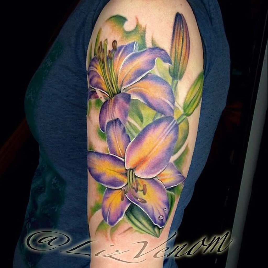 61 lily flowers tattoos collection for Flower tattoo arm