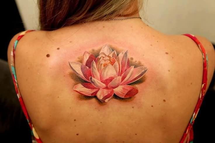 Realistic Flower Tattoo Designs: 47+ Lotus In Water Tattoos & Designs