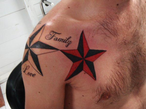 60+ Latest Nautical Star Tattoos Collection